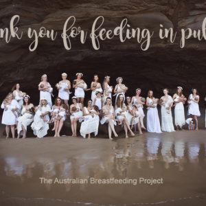 Australian thank you for feeding in public cards